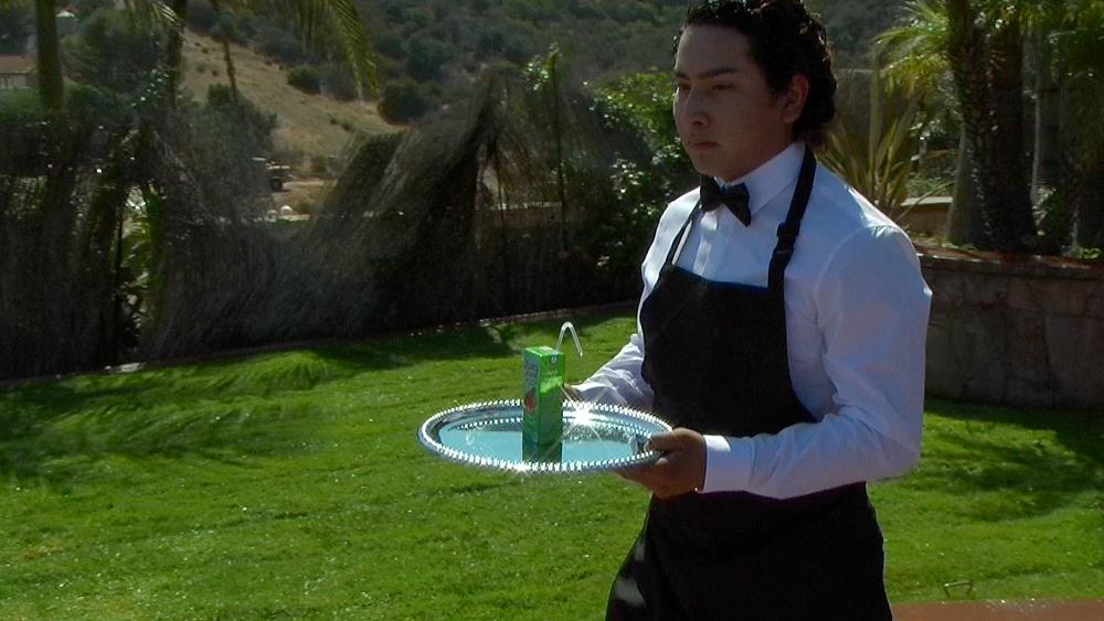 """Danny D' Vasquez  on the """"Paradise"""" music video set."""