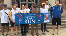 The International Team of Runners from 7 Different Countries make their way from New York City