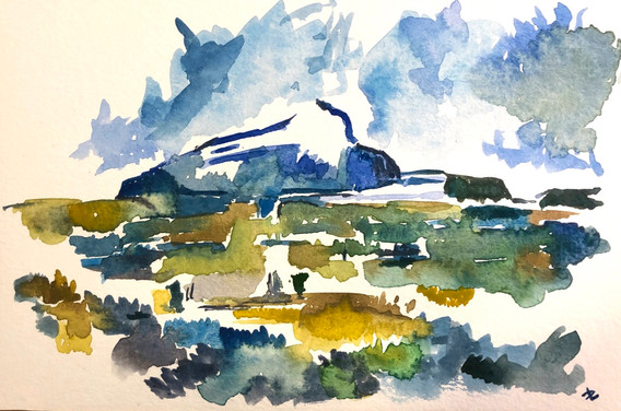 In the style of Cézanne