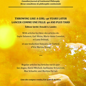 """""""Introduction: Throwing Like a Girl 40 Years Later,"""" Symposium 21.2 (2017)"""