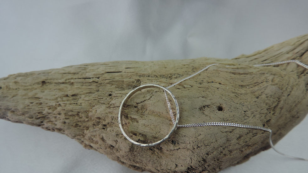 Aurelia Pendant - Silver Ring Necklace
