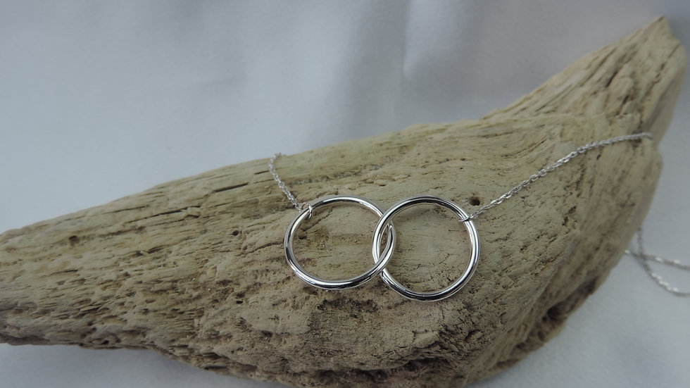 Bianca Necklace - Silver Rings Pendant