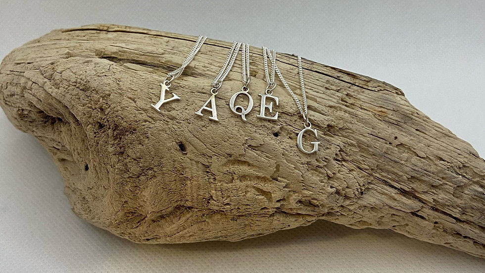 Sterling Silver Letter Pendant