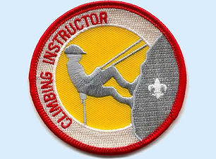 Climbing Instructor Patch - blue bkg 600
