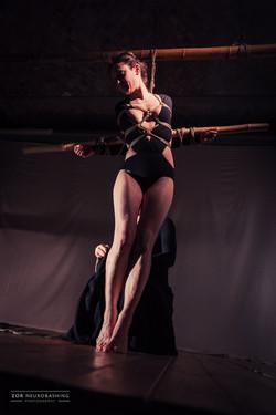 "Performance ""Bamboo Crossing"""