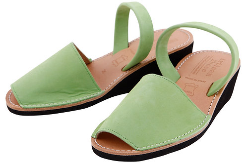 Avarca wedge sandals - pistachio nubuck