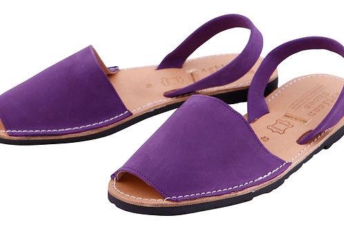 Classic avarca flats - violet nubuck