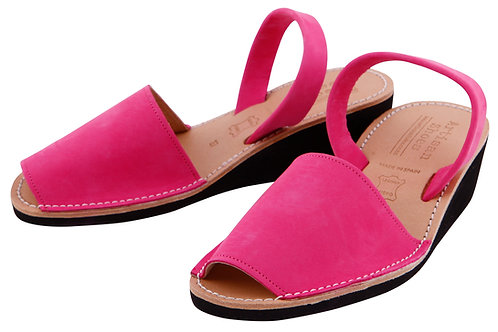 Avarca wedge sandals - fuschia nubuck
