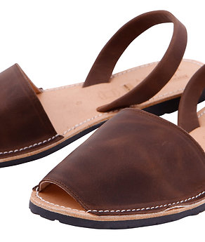 Men's flats- chocolate leather