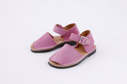 Children's buckle - pink nubuck