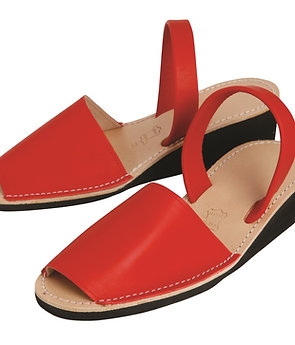 Avarca wedges - red leather