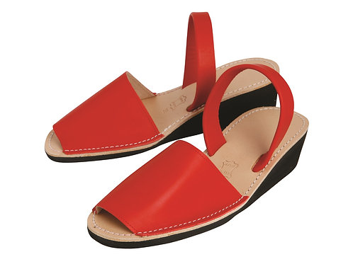 Avarca wedge sandals - red leather