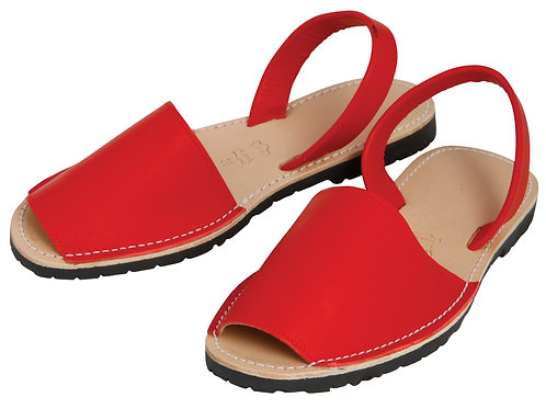 Classic avarca flats - red leather