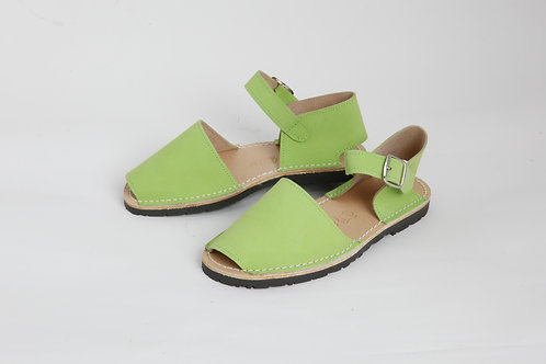 Children's buckle - pistachio nubuck