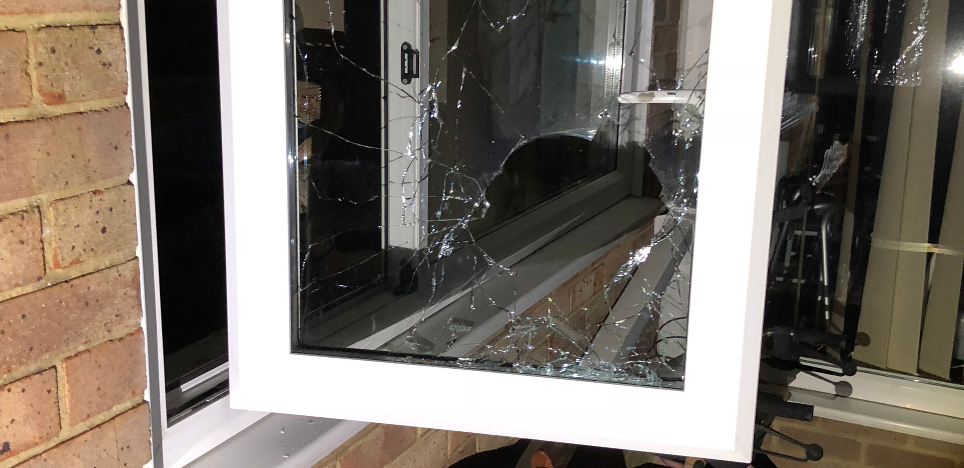 forced entry through window