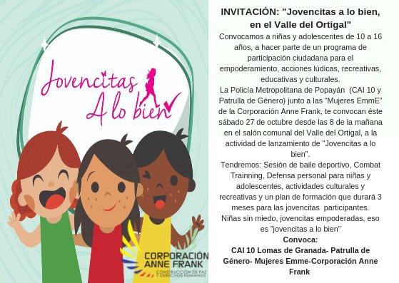 """INVITACION: """"JOVENCITAS A LO BIEN, EN EL VALLE DEL ORTIGAL"""""""