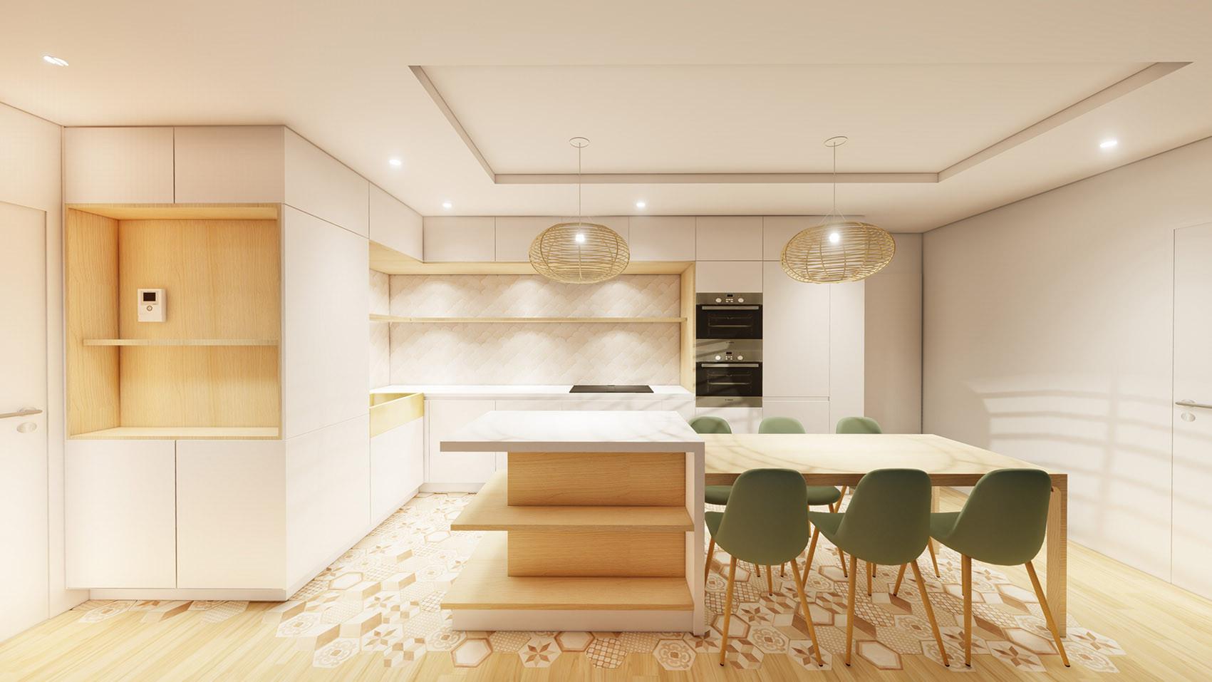 Cuisine ouverte design architecte un arc