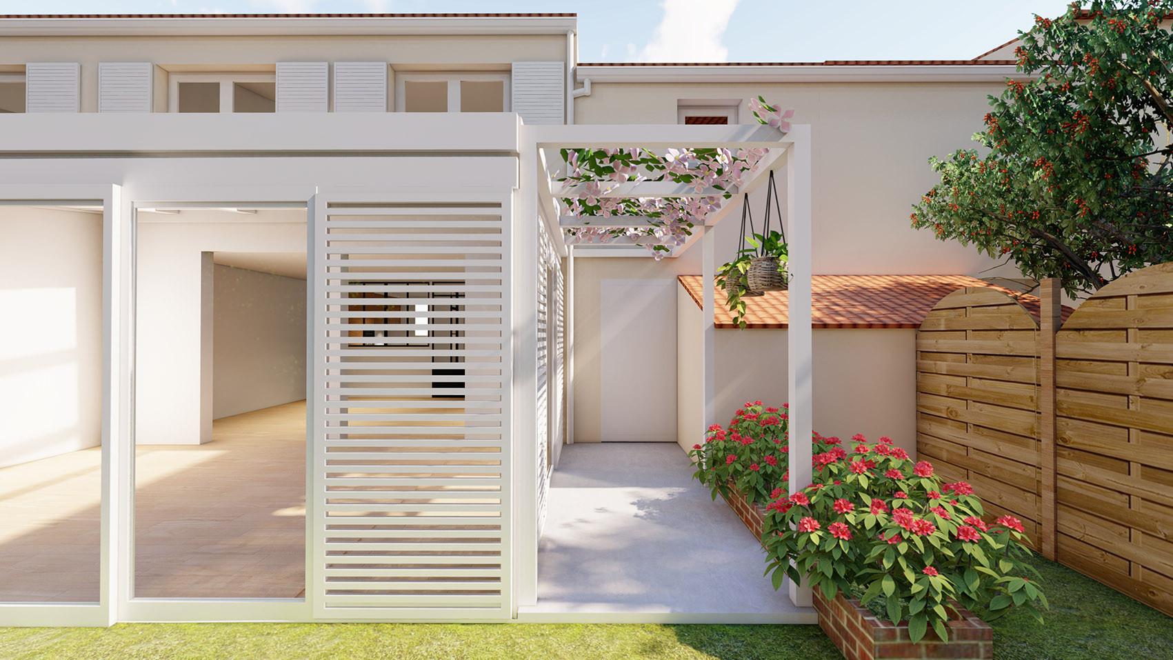 extension veranda pergola brise vue arch