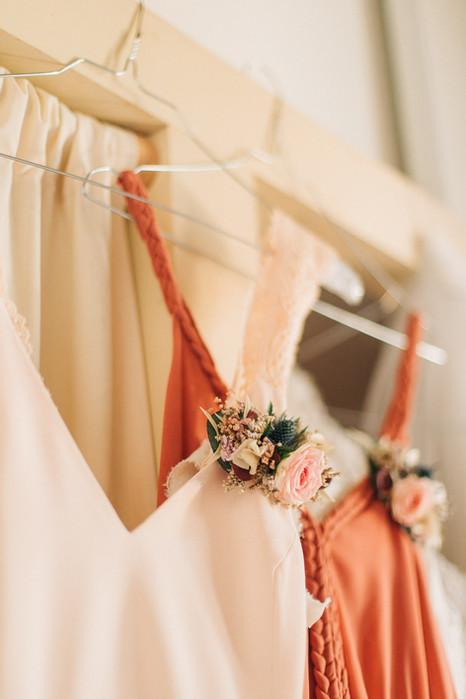 dress, cortège mariage