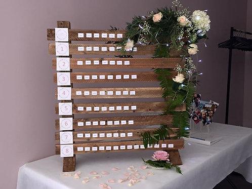 plan de table + raccord de numéro sur table