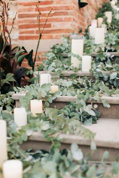 escalier végétal