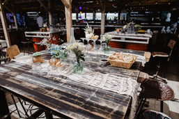 photos la paire de cerise Biquet plage mariage club de plage lustre de pampa boheme chic
