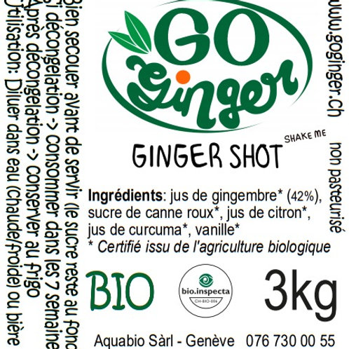 3kg concentré de gingembre 42% - LIVRAISON GRATUITE