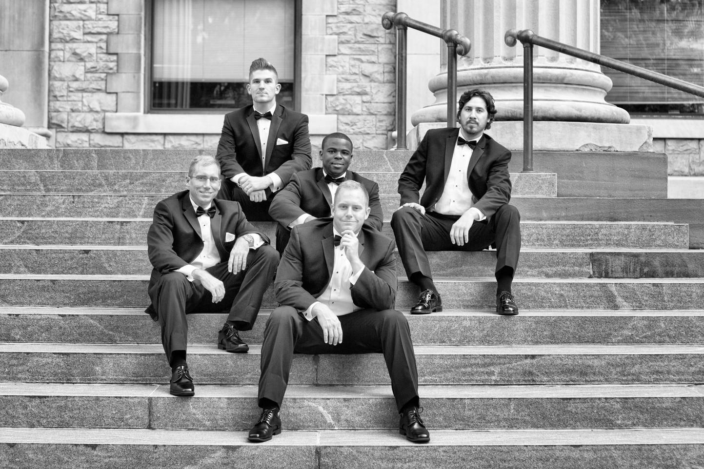 Groomsmen Downtown Binghamton NY