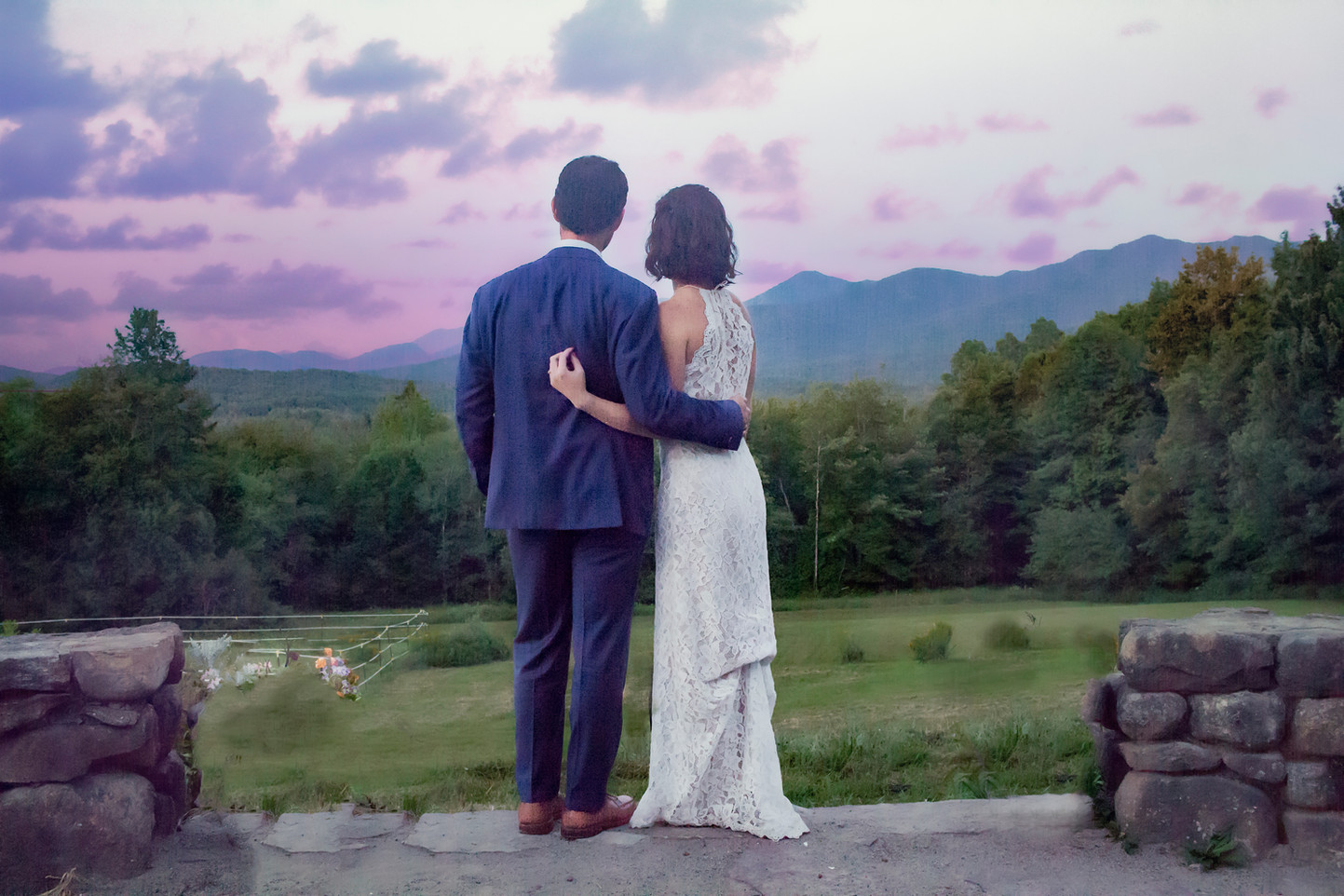 Adirondack Summer Evening Wedding