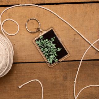 Green Mandala - Keyring