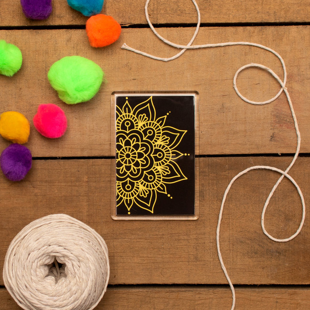 Yellow Mandala - Magnet