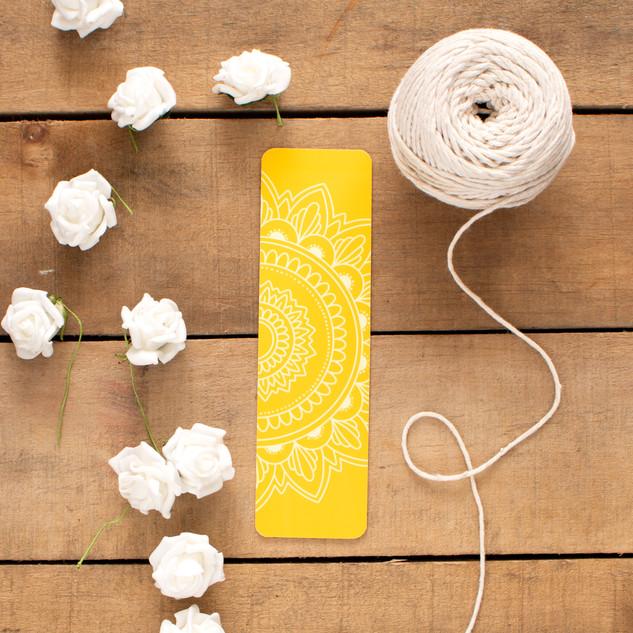 Yellow Mandala - Bookmark