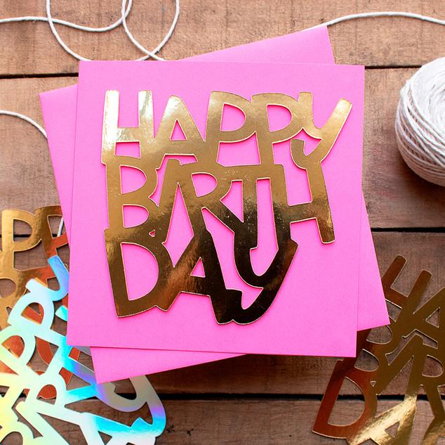 Happy Birthday - Pink
