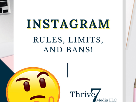 Instagram Rules, Limits, & Bans!