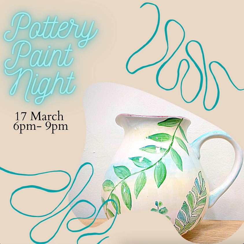 Evening Pottery Painting - March 17