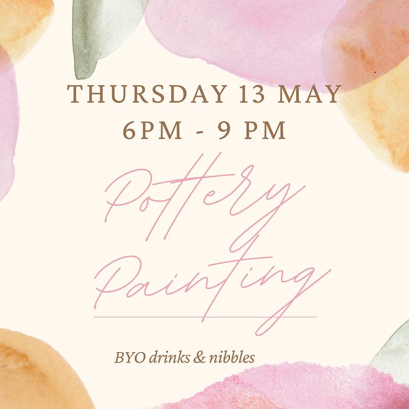 13 May Pottery Paint Night