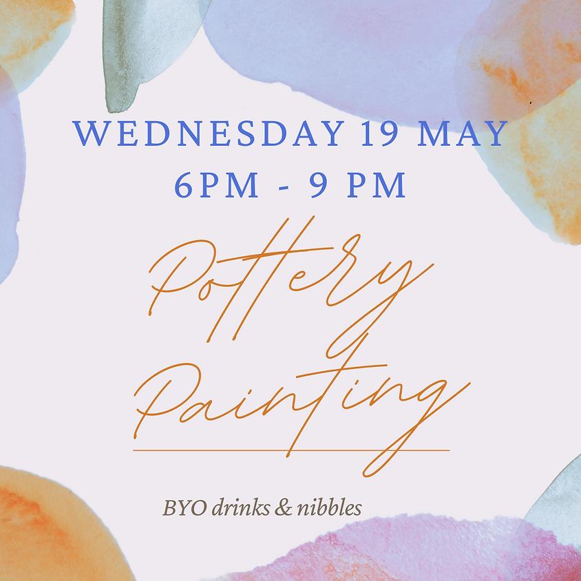 19 May Pottery Paint Night