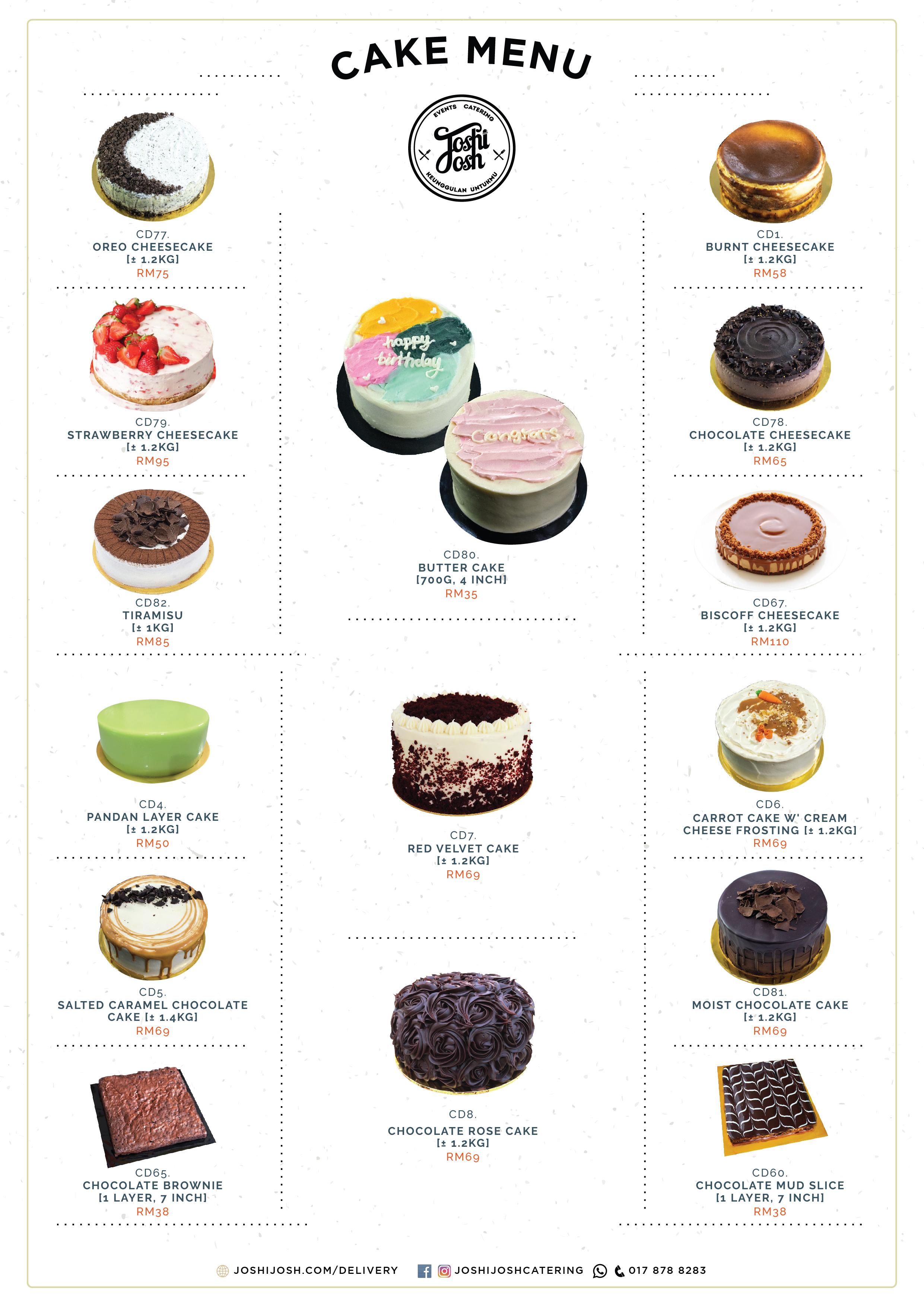 Cake menu A4-01