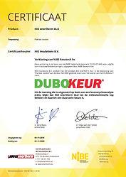DUBOkeur Certificaat IKO Enertherm ALU.j