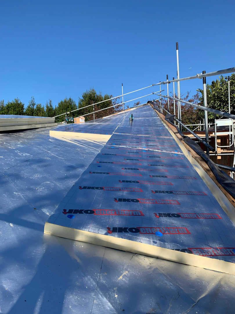 Slope of existing roof that was overlaid