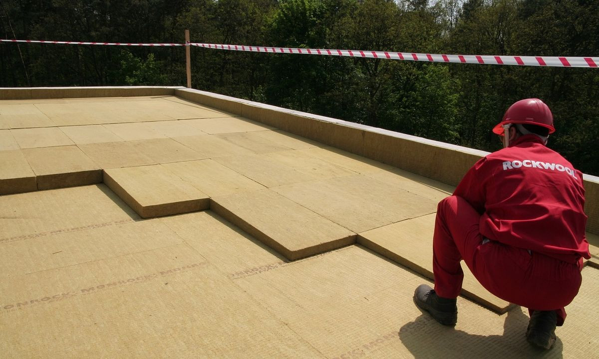 Rockwool on roof