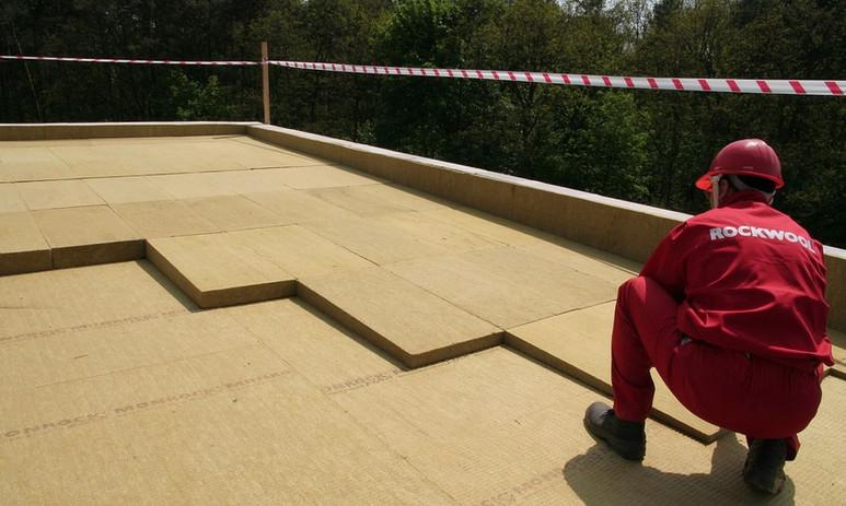 Rockwool on roof