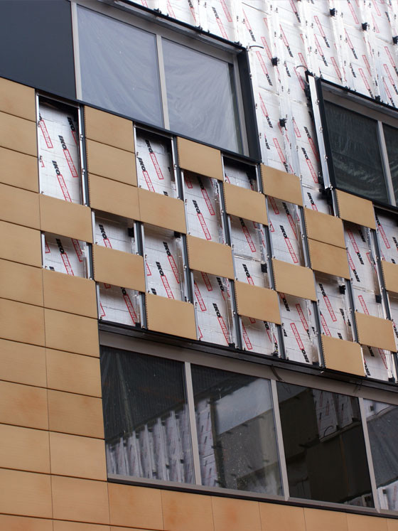 Enertherm with cladding being installed