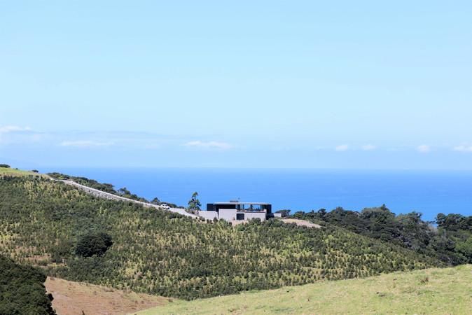 Overlooking the Pacific Ocean.