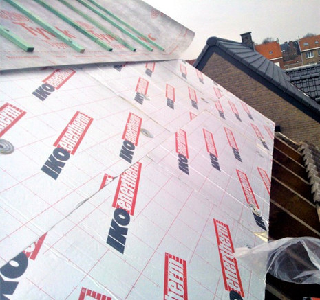 Showing Pitched Roof being installed