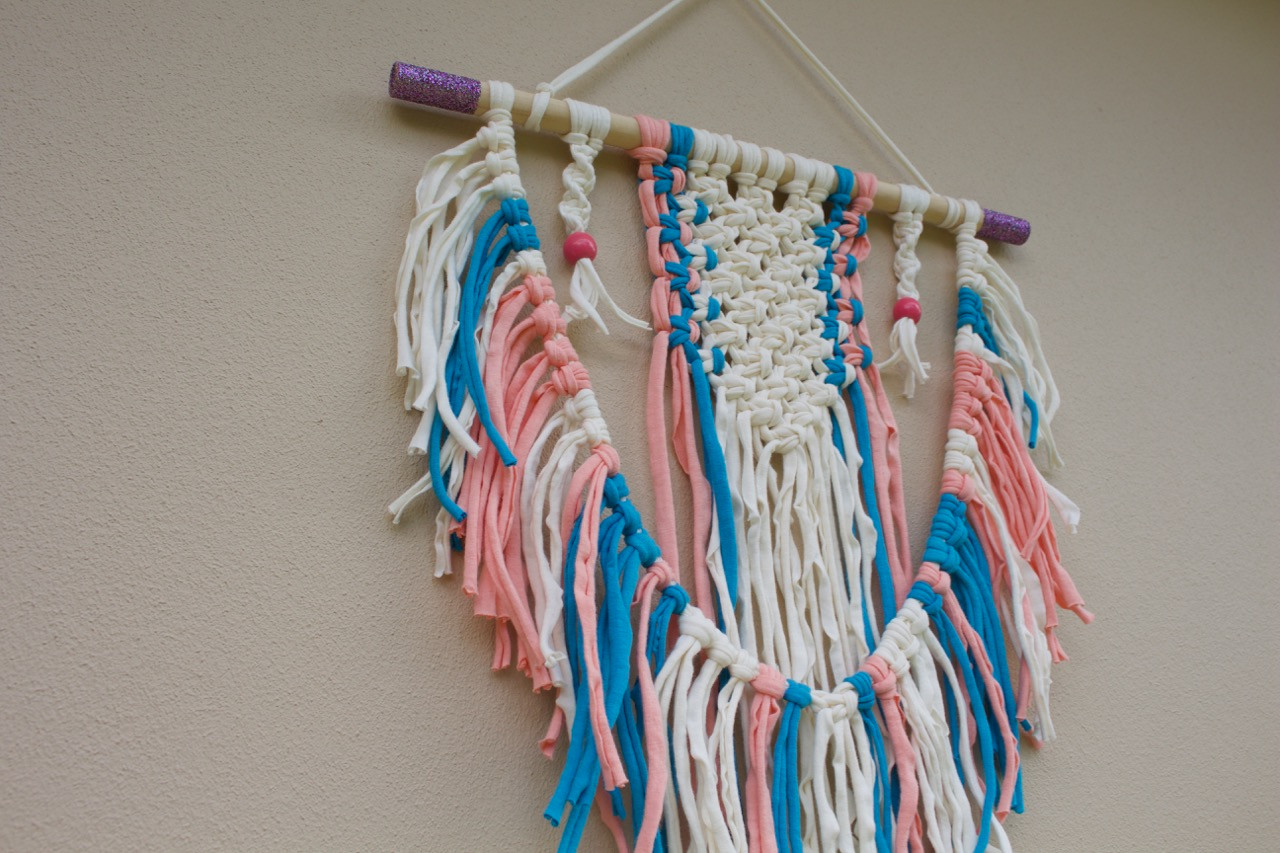 Unicorn Macrame Wall Hanging
