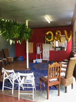 Macrame Workshop Set Up