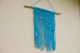 Blue Macrame Wall Hanging