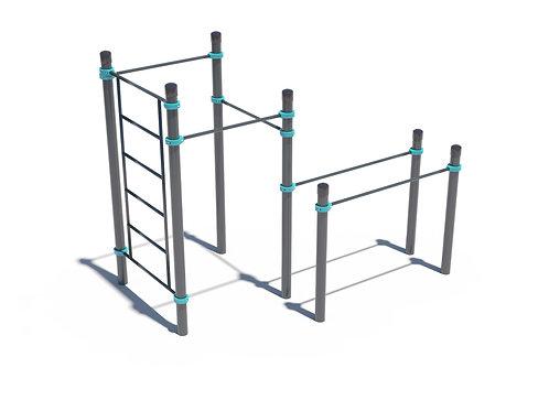 K-005: Swedish wall, 3 crossbars and parallel bars