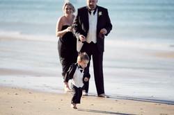 child running on beach